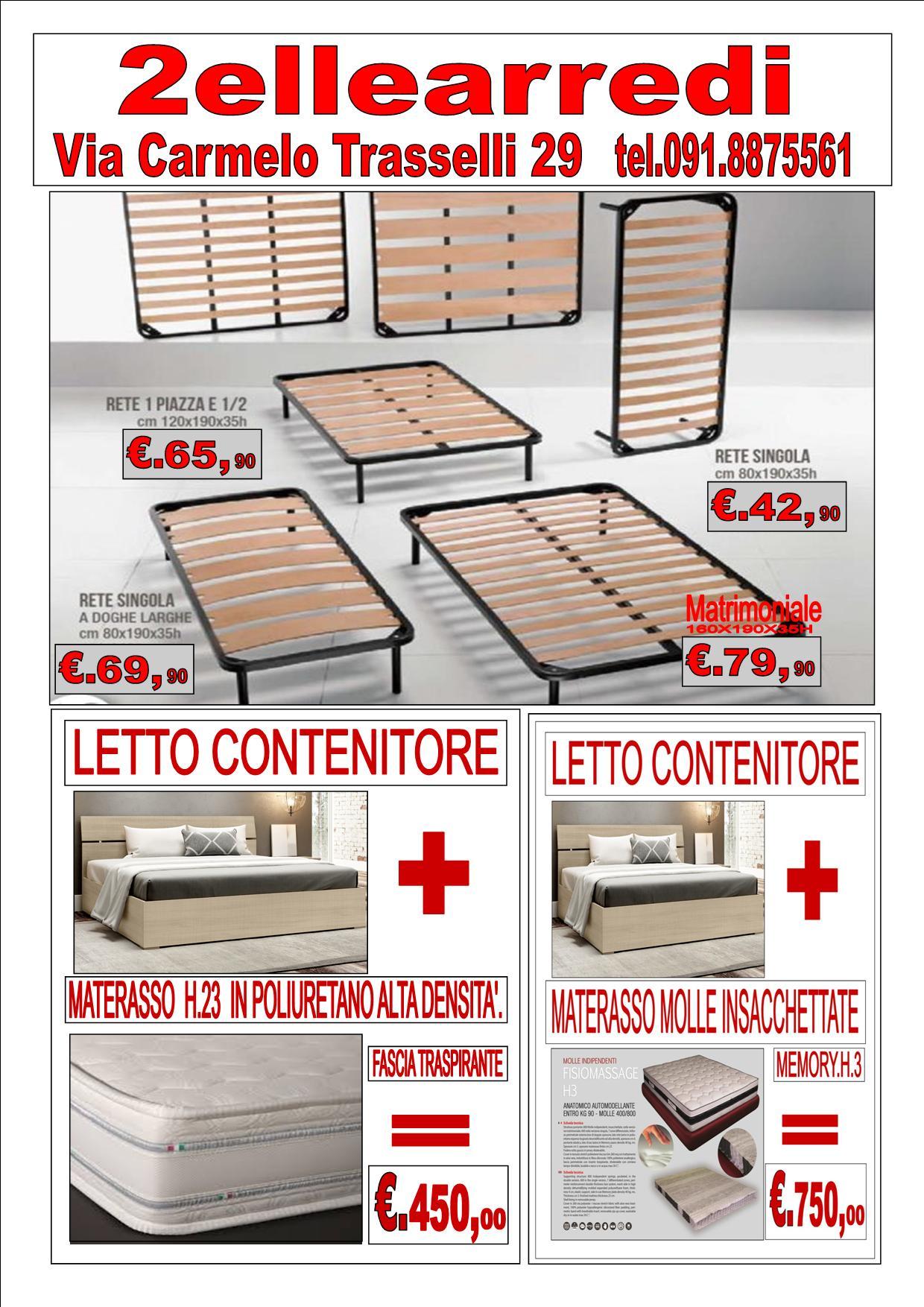 Offerta letto contenitore con materasso!!     2ellearredi.it