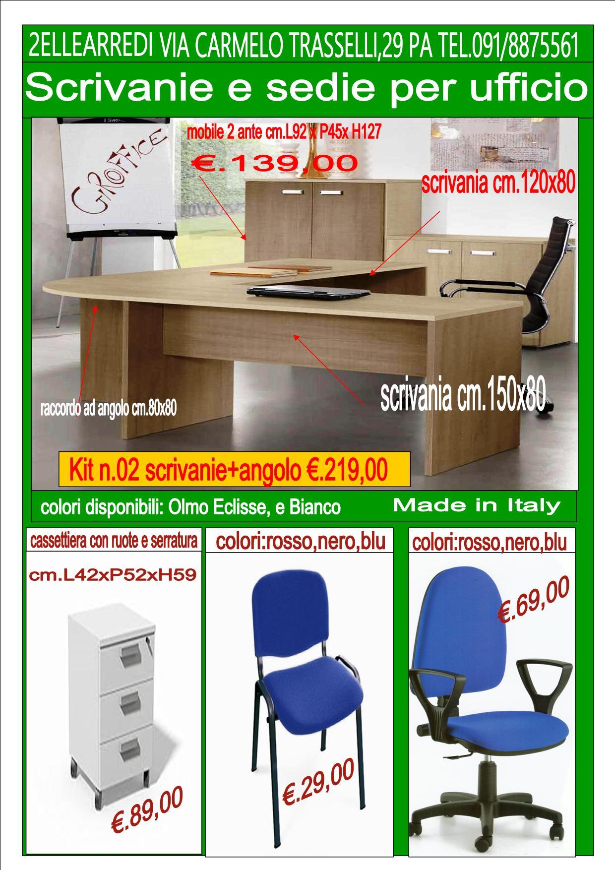 scrivanie e sedie per ufficio | 2ellearredi.it